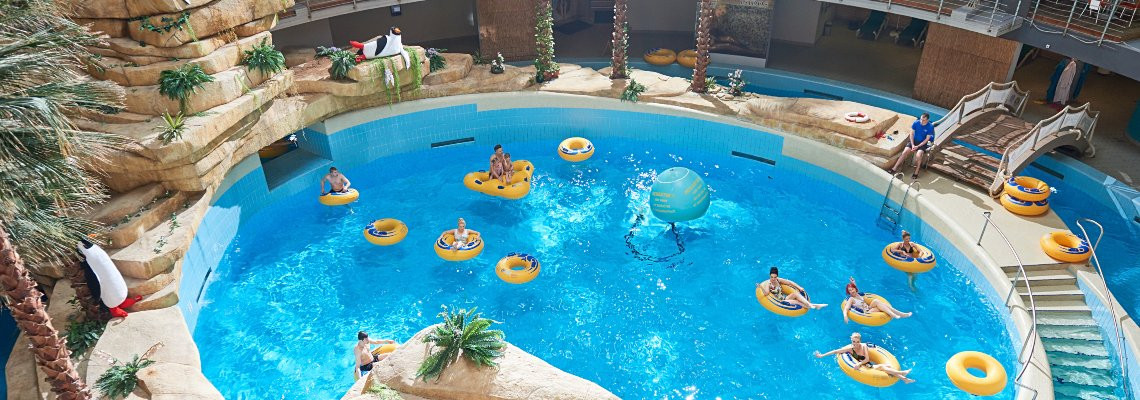 Wellness programme with entertainment in aquapark, baths and dinner